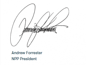NPP president signature